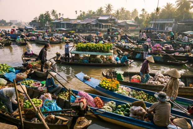 Mekong Delta floating market: This the place to see some of Asia's best floating markets in full swing.