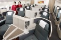 Cathay Pacific's business class cabin offers direct aisle access to all passengers.