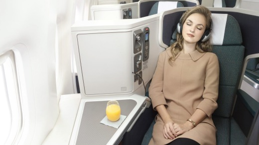 Get comfy on Cathay Pacific.