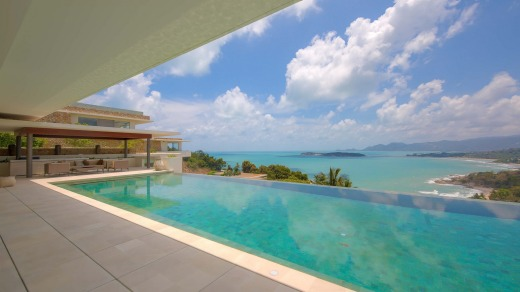 All of the villas boast panoramic sea and island views.