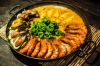 Philippine style paella shows Spanish heritage.
