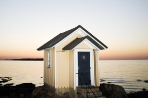 A small house by the sea for pilotage service, Sweden.
