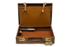 Ronnie and Reggie Kray's  briefcase with syringe and posion intended for use against a witness at the Old Bailey, but ...