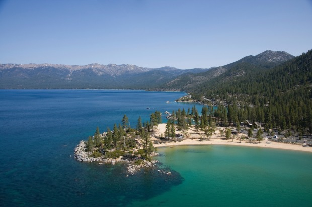 Sand Harbor, Nevada: Lake Tahoe is an all-seasons destination. In winter, people flock to the surrounding mountains for ...
