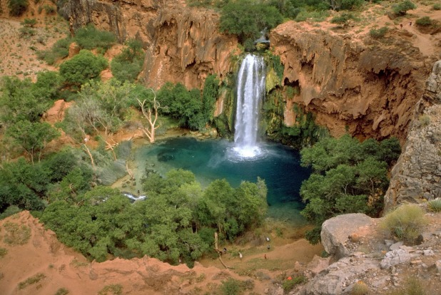 Havasu Falls, Arizona: Sure, the shore is rocky, but who cares when you find a swim spot this gorgeous? Not only is ...