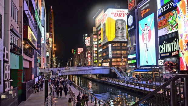 Shopping in Dotonbori district.