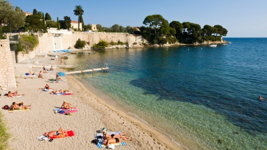 The beach at Saint Jean Cap Ferrat.