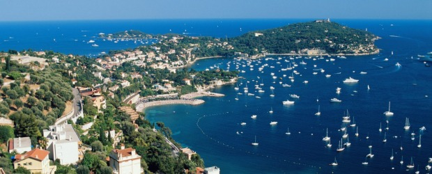 Coast of Saint Jean Cap Ferrat in France.