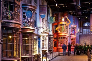 Ollivanders wand shop on Diagon Alley took the film team six months to build.