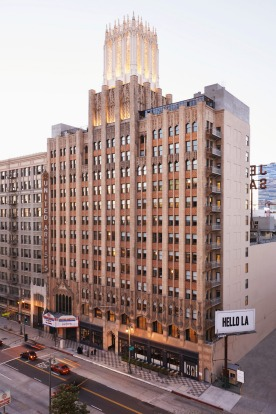 Occupying the old United Artists building in Downtown Los Angeles is The Ace.
