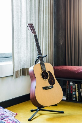 Need a guitar for your stay? No problem, at The Ace, Los Angeles.