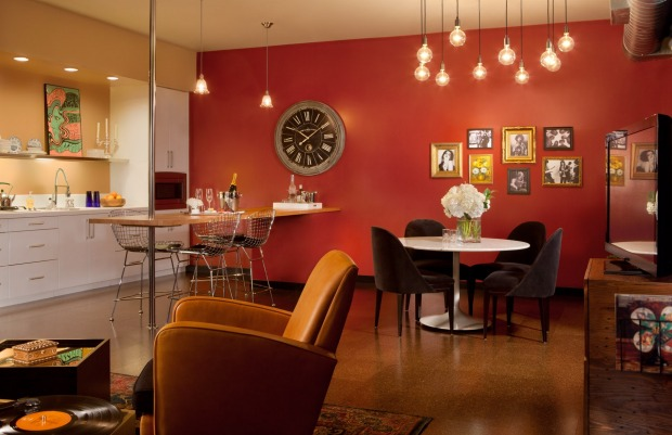 Rooms at The Redbury include a full kitchen.