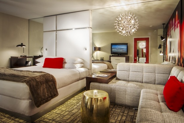 A newly renovated room at the Grafton on Sunset, West Hollywood.