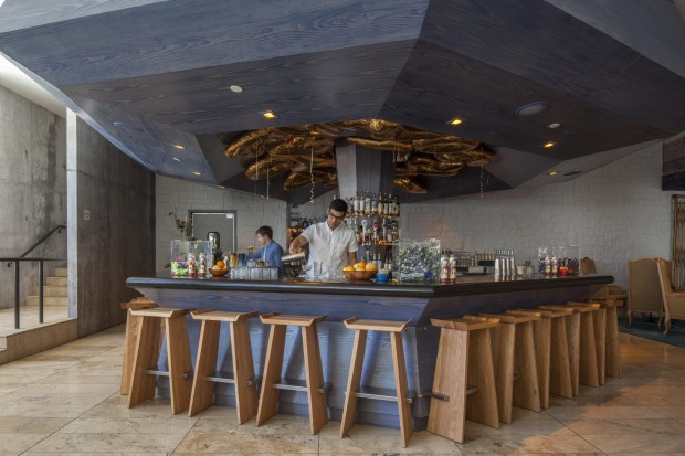The bar at The Line, Downtown Los Angeles.