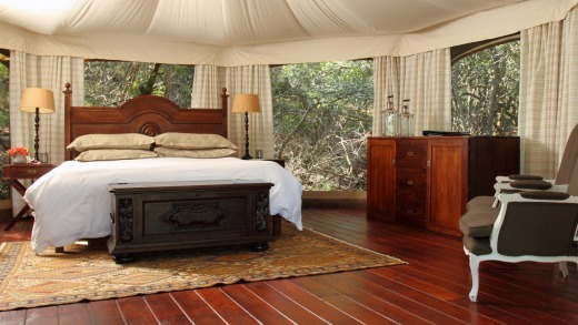 Thanda Private Game Reserve and tented camp, Africa.
