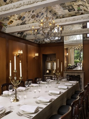 Private dining at Chateau Marmont, West Hollywood.