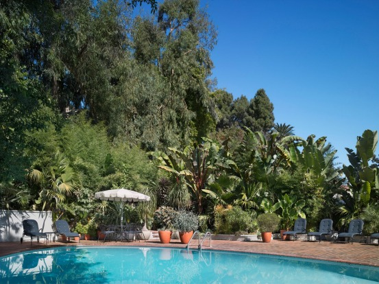 The pool at Chateau Marmont, West Hollywood.