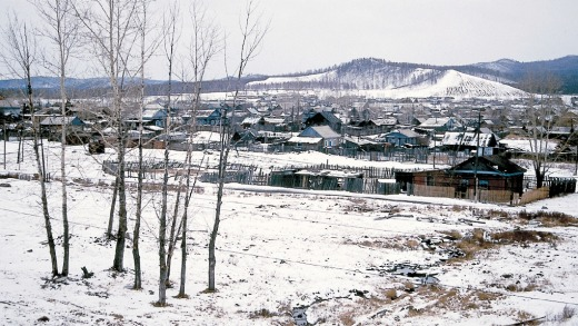 View of Siberian countryside from Trans-Siberian railway.