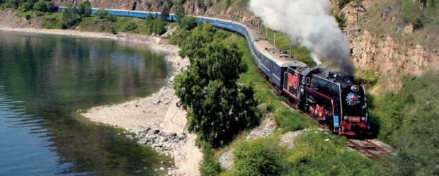 The Golden Eagle luxury train travels along the world's longest railway. goldeneagleluxurytrains.com