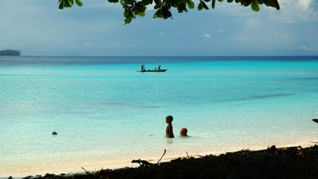 A view of the beach at Milne Bay.