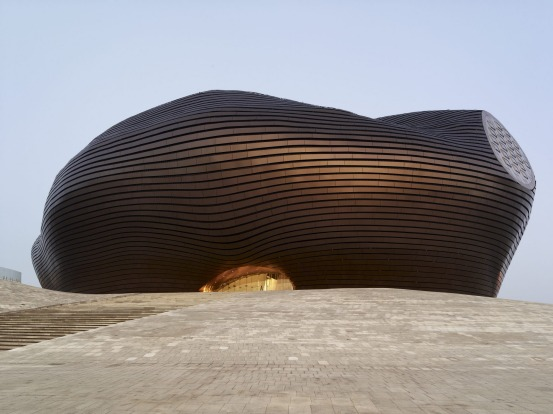 Ordos Museum, Mad Architects, Ordos, Inner Mongolia, China.