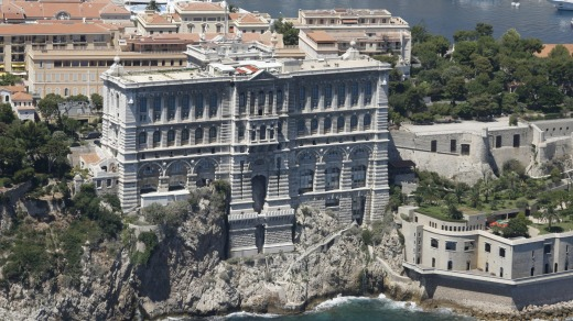 The Oceanographic Museum is built into the Rock of Monaco.