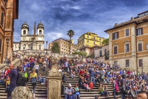 Spanish steps in Rome.