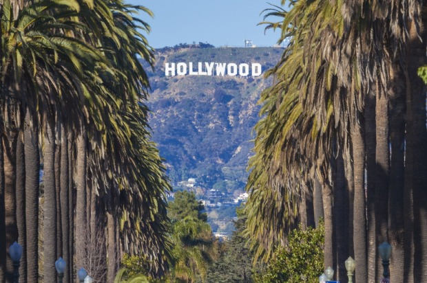 The Hollywood Sign is a famous landmark in the Hollywood Hills area of Mount Lee in the Santa Monica Mountains, Los ...