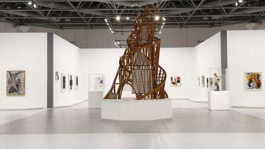 """Avante-garde artworks in the """"From Chagall to Malevich"""" exhibition at Grimaldi Forum."""