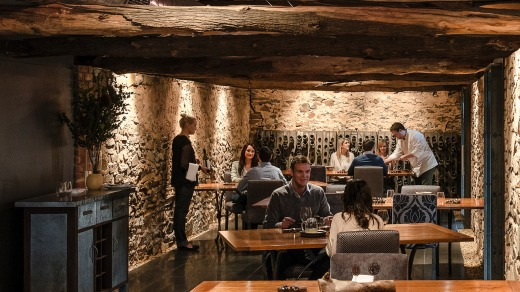 Fine Dining: The interiors at Hentley Farm.