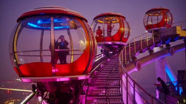 """Guangzhou's Canton Tower has """"the world's highest Bubble Tram''."""