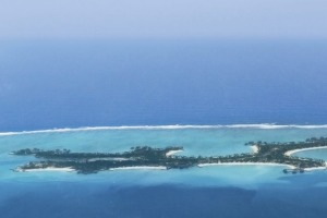 Reethi Rah as viewed from the air above the Maldives' North Male Atoll.  Photo: supplied