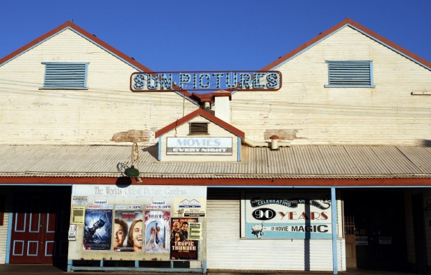 Sun Pictures theatre, Broome, Western Australia. Some of Broome's favourite landmarks feature in Bran Nue Dae.