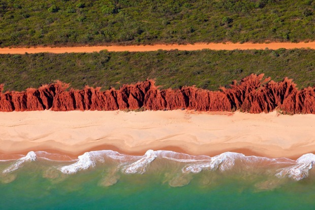 Coastline at James Price Point, North of Broome. Some of Broome's favourite landmarks feature in Bran Nue Dae.
