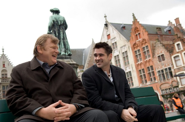 In Bruges is the darkly comedic tale of the fates of hit men Ray (Colin Farrell)and Ken (Brendan Gleeson).