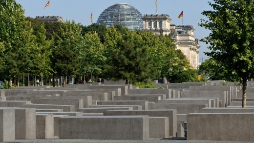 The confronting Memorial to the Murdered Jews of Europe addresses the city's dark past.
