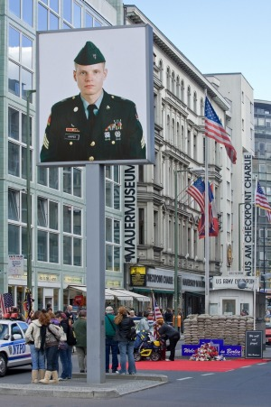 Checkpoint Charlie, which became synonymous with the fall of communism.