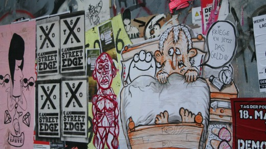 Visitors can explore the best street art sites with Alternative Berlin Tours.