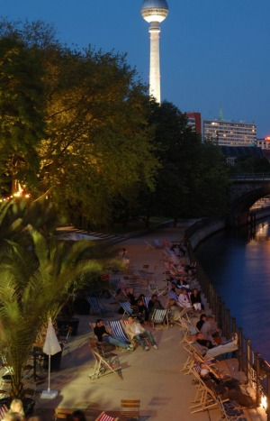 The Beach bar shows Berliners know how to have fun.