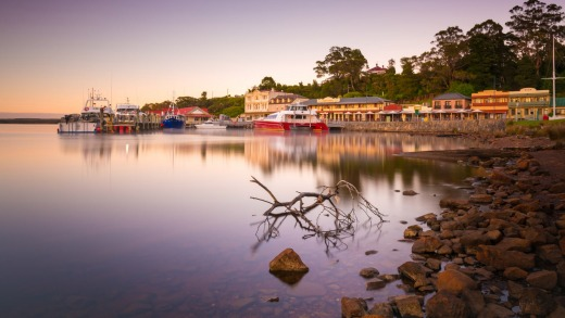 Strahan is a harbour-side village with a dark and fascinating convict past set on the edge of the Tasmanian Wilderness ...