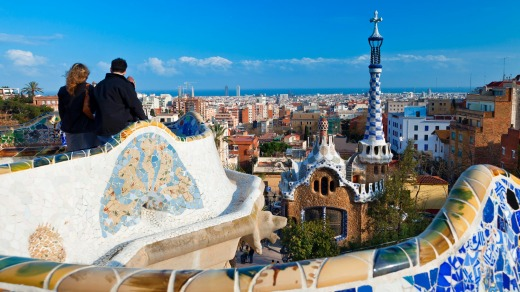 Gaudi's Park Guell in Barcelona.
