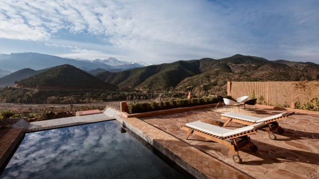 Kasbah Bab Ourika elevates the architectural format of the Berber kasbah into a stylish but understated haven of good living.