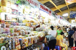 Ben Thanh Market in Ho Chi Minh City.