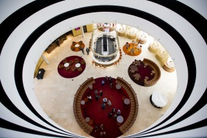 The Vibe Hotel Canberra Airport: The design of the hotel's dramatic public spaces is stunning.