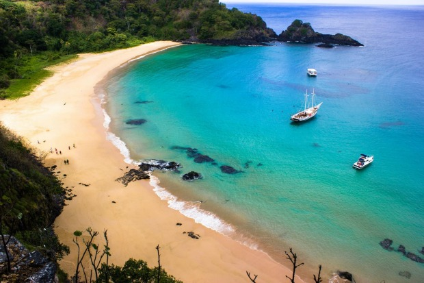 Number 2: Baia do Sancho, Fernando de Noronha, Brazil.