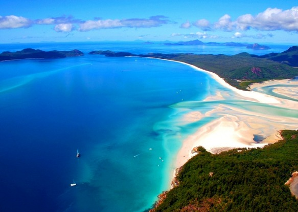 Australia's top 10 beaches. Number 1: Whitehaven Beach, Whitsundays, Queensland.
