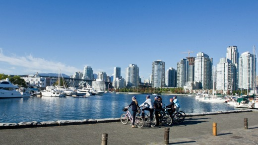A cycle tour around Yaletown.