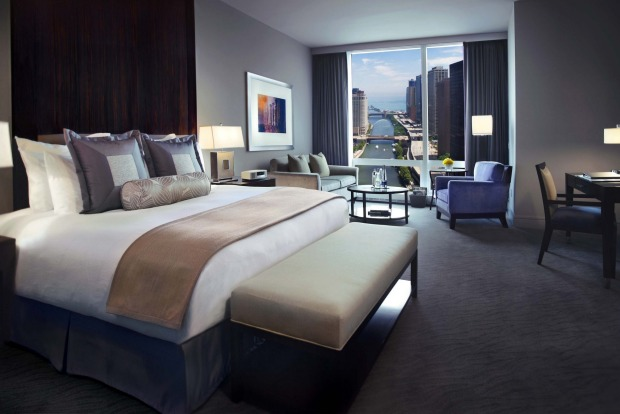 A room at Trump International Hotel & Tower.
