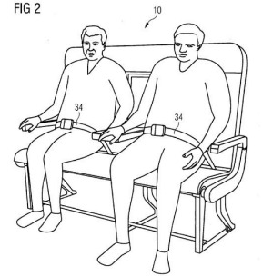A sketch of the bench seating design for planes.
