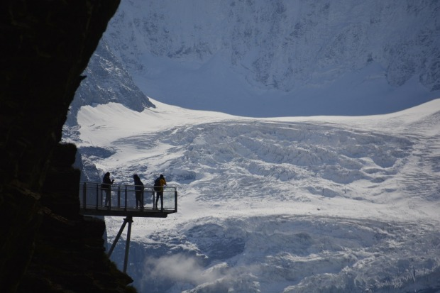 Taken from near First top station above Grindelwald in the Bernese Oberland of Switzerland. This vantage platform gives ...